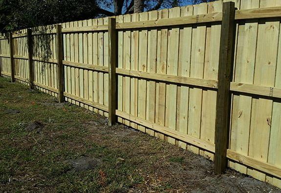 board on board wood fence savannah