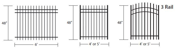 3 rail colonial fence picket